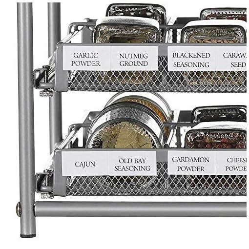 Kitchen NEX 3-Tier Spice Rack, 24 Bottle & 18 Bottle Standing Spice Drawer Storage Organizer for Kitchen Cabinet Countertop… spice racks