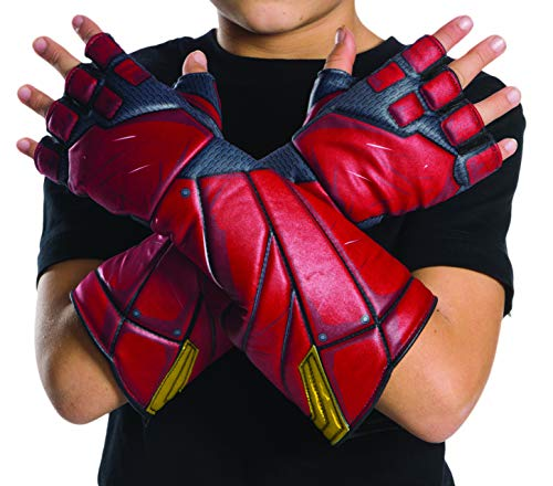 Different Flash Costumes (Rubie's Costume Boys Justice League Flash Gloves Costume, One)