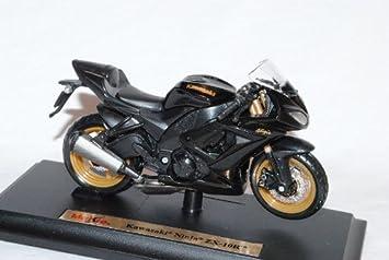 Kawasaki Ninja Zx 10r Zx10r 10 R Schwarz Mit Sockel 1 18