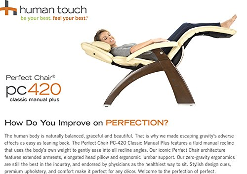 Human Touch Perfect Chair PC 420 Classic Plus Premium Full Grain Leather Zero  Gravity Recliner