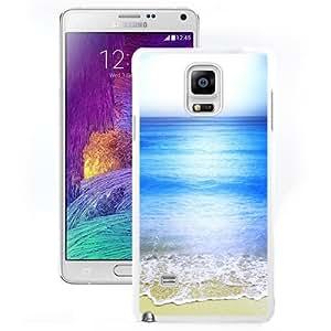 Fashion Custom Designed Cover Case For Samsung Galaxy Note 4 N910A N910T N910P N910V N910R4 Phone Case With Calm Sea Wave Beach Shore_White Phone Case