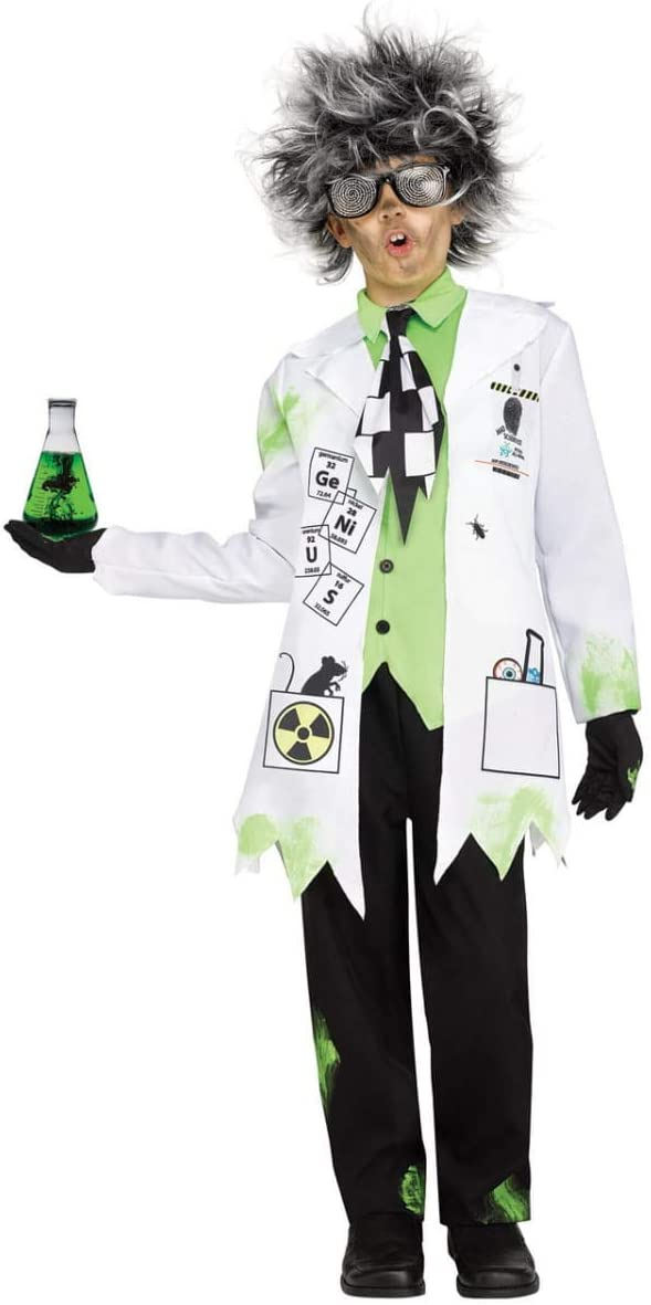 Horror-Shop Disfraz de Profesor Loco niños M: Amazon.es: Juguetes ...