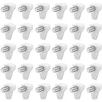 Derbway 40 Piezas Clavijas de Soporte de Estante, Diámetro del Agujero de 5mm Carga de 60kg para Estantes de Vidrio para…