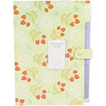 Expandable File Folder Holder,Expanding Files Box Accordion Folder,Floral Printed Accordion Document File Folder Expanding Letter Organizer, 8 Pockets-Aolvo