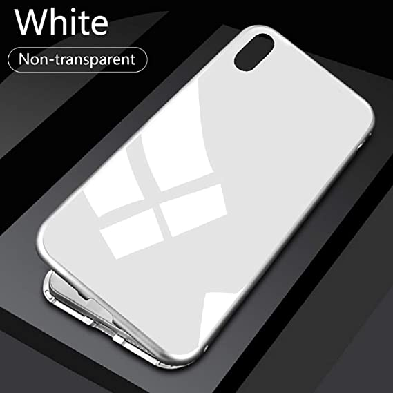 best sneakers f955b 0948e Amazon.com: Magnetic Case for iPhone XR - Metal Tempered Glass Back ...