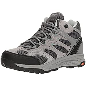 Hi-Tec Women's V-Lite Wild-Fire Mid I Waterproof Hiking Boot, Cool Grey/Graphite/Iceberg Green, 080M Medium US