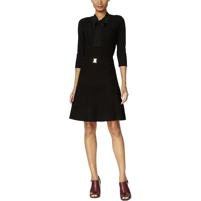 53fe4da58 Tommy Hilfiger Women s Layered Ribbed Sweater Dress (L