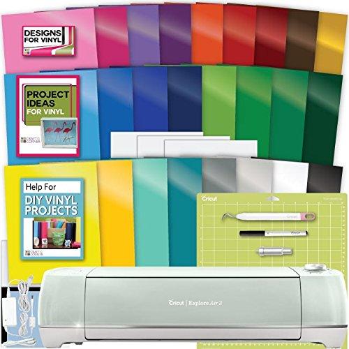 Cricut Explore Air 2 Machine Bundle - Large Vinyl Pack, Tool, Guide Designs Ideas