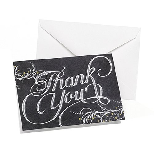 Hortense B. Hewitt 50 Count Whimsical Chalkboard Thank You Cards