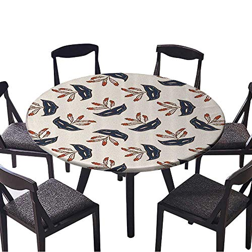 The Round Table Cloth Party Mask Mid Century Disguise Night Gathering Costume Perfect for Indoor, Outdoor 40