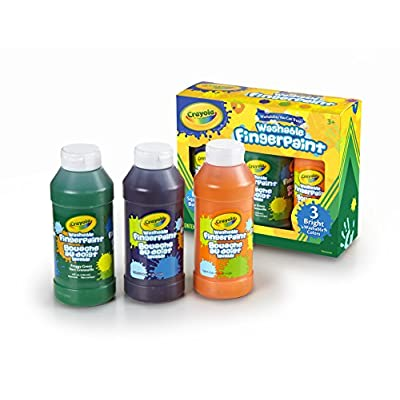 Crayola Washable Bright Fingerpaint, Secondary Colors 3 ea: Toys & Games