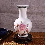 Springdoit Blue and White Porcelain Small vase Flower Arrangement, Antique Porcelain vase Home Ceramic Decoration Home Decoration (E1)