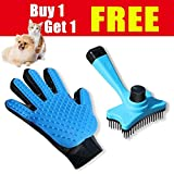 SMIAOER Pet Grooming Glove & Pet Grooming Brush Dog cat Small Animal pet Comb Glove Brush