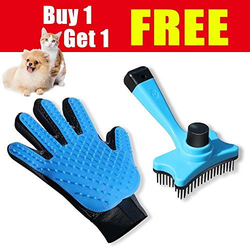 SMIAOER Pet Grooming Glove & Pet Grooming Brush Dog cat Small Animal pet Comb Glove Brush by SMIAOER