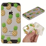iPhone 5S Case,iPhone SE Case,Gift_Source [Ultra-Slim] Fashion Cute Soft TPU Rubber Silicone Cover Shock-Absorption Bumper Transparent Clear Back Case For iPhone SE/5/5s [Pineapple]