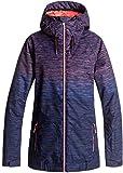 Roxy SNOW Junior's Valley Hoodie Snow Jacket, Neon Grapefruit_Space Dye Grad, L