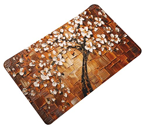 Oil Painting Floral Door Mat Flannel Antislip LivebyCare Doormat Entry Decor Front Entrance Indoor Outdoor Mats for Decor Decorative Home Family Room