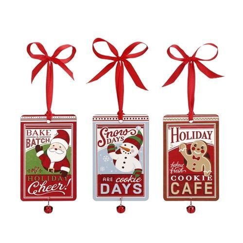 Demdaco Holiday Baking Ornament Gift Card Holders - 3 Assorted