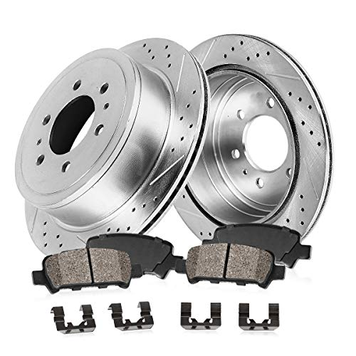 Callahan CDS02171 REAR 312mm D/S 6 Lug [4] Rotors + Ceramic Brake Pads + Hardware [ GX470 4Runner Sequoia FJ ]