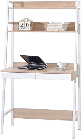 Berg – Escalera Escritorio/ – Escritorio con 2 cajones, 3 estantes, Color Blanco y Roble Sonoma: Amazon.es: Juguetes y juegos