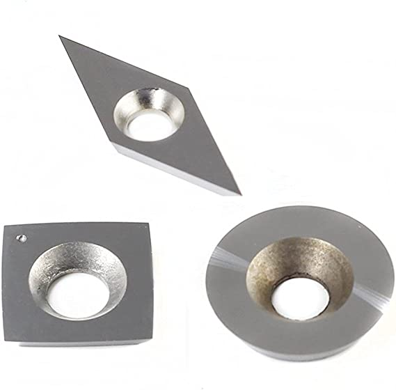 Wood Working Alloy Lathe Turning Tool Different Shapes Size Optional with Screws better18 Tungsten Carbide Cutters Inserts Set Lathe Turning Tools