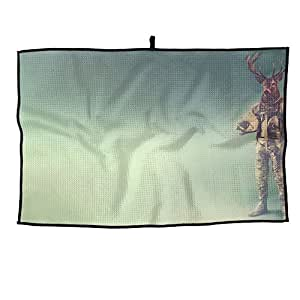 Portable Golf Towel High Elk Unisex Casual Sports Towel 38X60cm