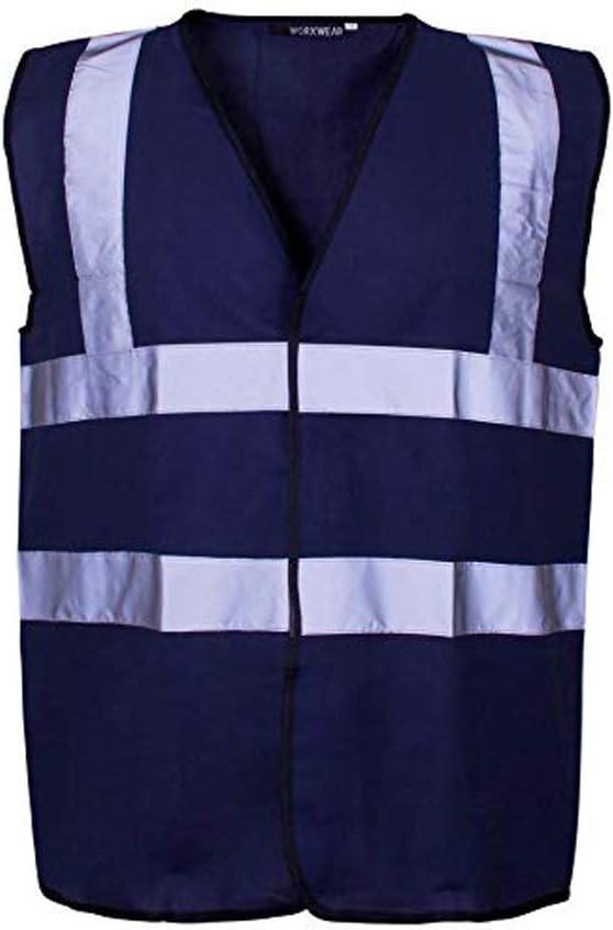 7XL 160cm-168cm, Yellow Mens Ladies Unisex Hi Viz 2 Band /& Braces Safety Vest Size Small to 12XL