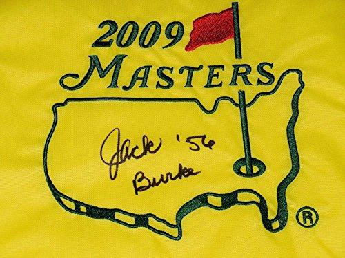 Jack Burke Autographed Masters Golf Flag (1956 Winner) - W/Coa! - Autographed Golf Pin Flags