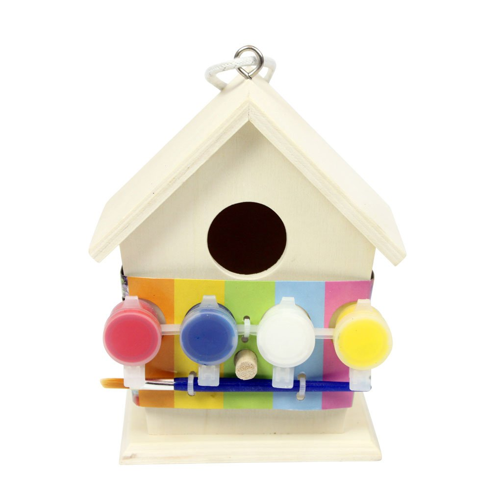 Art And Craft Paint Your Own Wooden Bird House Carousel Toys ST4500