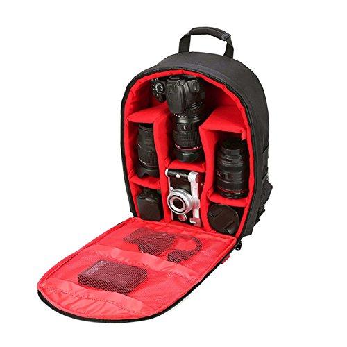 Connoworld 2018 - Mochila impermeable para cámara réflex digital con funda para lluvia, gran capacidad, multiranuras, para...