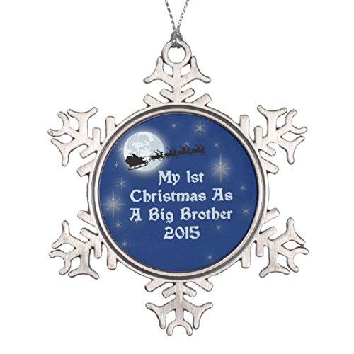 Follies Christmas 2015 1st Christmas As A Big Brother Snowflake Pewter Christmas ()