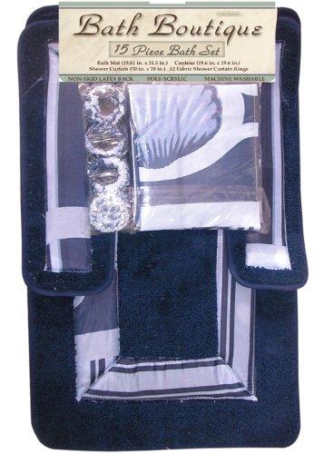 Home Dynamix 302-300 Bath Boutique Poly-Acrylic 15-Piece Bathroom Set, Navy Blue Review