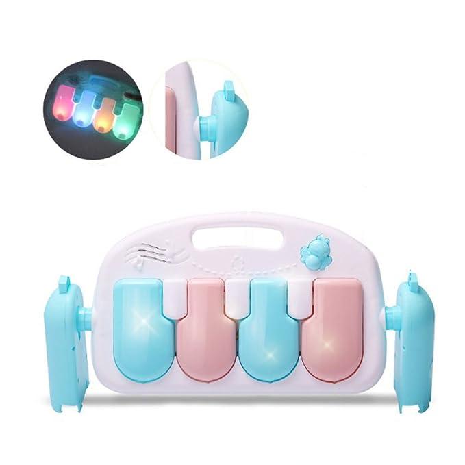 TOYMYTOY Gimnasio Piano Pataditas Multifuncional Juguete para 0-36 Meses Bebé (Azul)