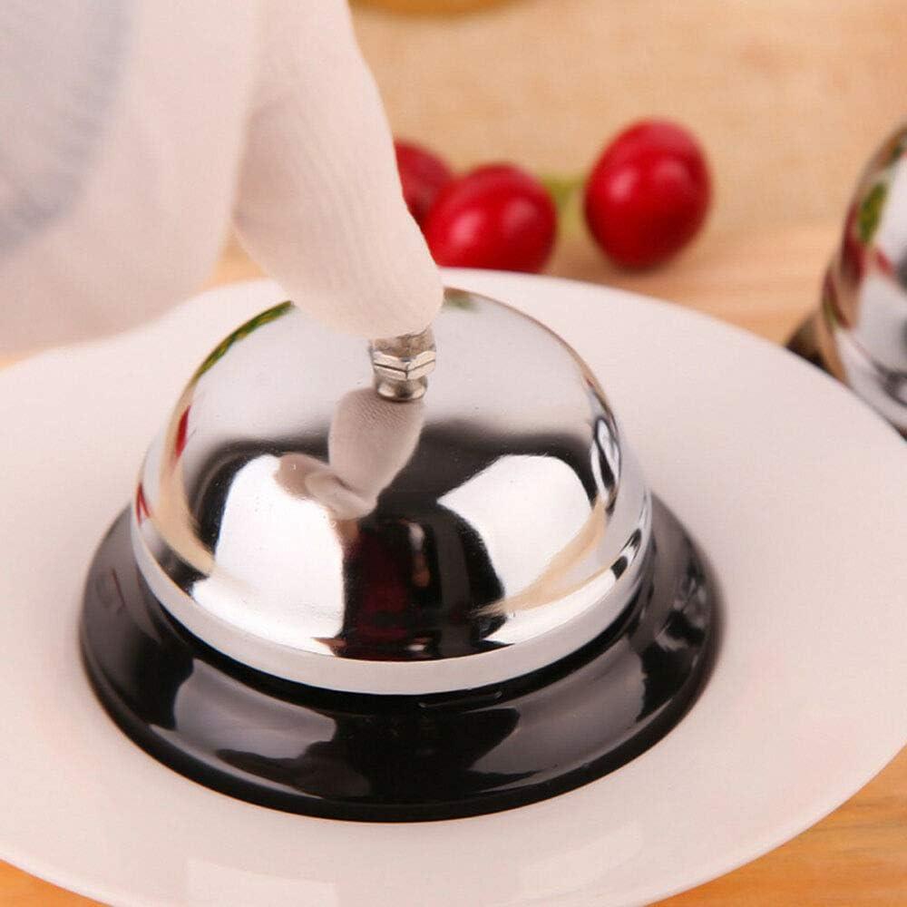 Call Bell SENRISE timbre de servicio para Porter Kitchen Hotel Restaurante Bar Recepci/ón Escritorio Counter Ring Funcionamiento tradicional y Cl/ásico Concierge Uso peque/ño//grande plateado