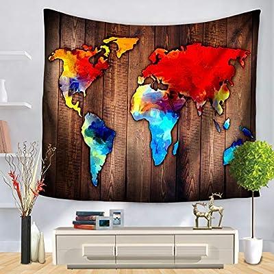 Amazon.com: Tapiz de pared vintage con diseño de mapa del ...