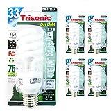 4Pc 75 W CFL Fluorescent Light Bulbs Compact 33 Watts Daylight White Energy New