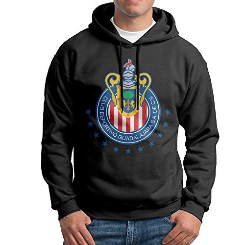 music-chivas-de-guadalajara-mens-lightweight-hooded-shirt-black