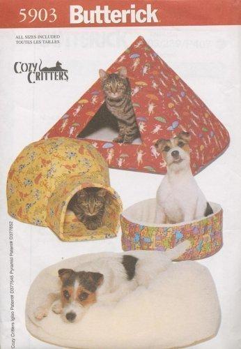 Butterick 5903 - Cozy Critters - Pet Beds - Critter Pattern