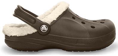 Crocs Women's Feat Lined Slip Ons Walnut/Oatmeal 6 B(M) US