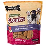 Three Dog Bakery Biscuits Apple Oatmeal Dog Treats, 32-Ounce, My Pet Supplies