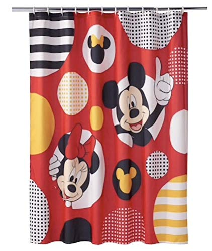 Jumping Beans Mickey & Minnie Mouse Large Polka Dot Shower Curtain