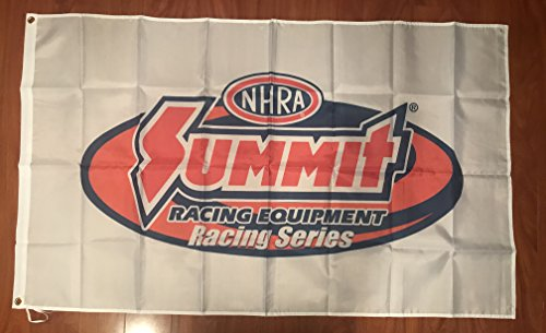 - NHRA Summit Drag Racing 3' X 5' Polyester Flag Banner Man Cave Bar Shop