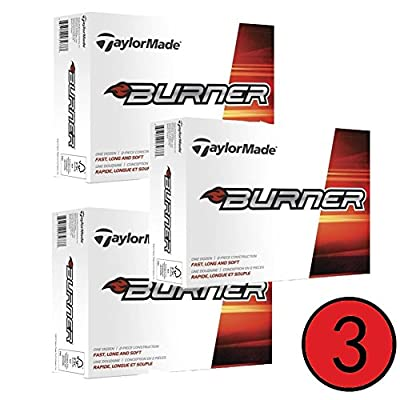 3 Dozen TaylorMade Burner Golf Balls 12-Ball Pack-White (36 Balls)