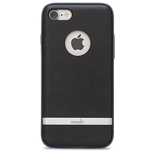 Moshi Napa Vegan Leather Case for iPhone 7/8, Charcoal Black