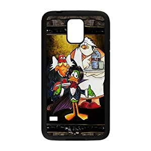 England Classic Funny Animated Film&Count Duckula Background Case Cover for SamSung Galaxy S5 - Hard PC Back&4 sides TPU Protective Case Shell-Perfect as gift