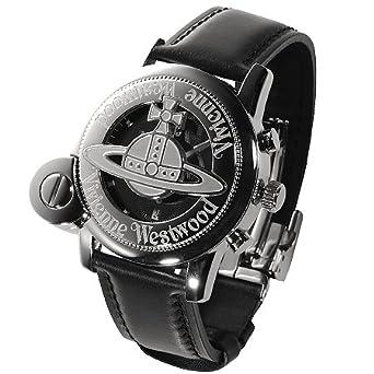 ヴィヴィアンウエストウッドマン メンズ 腕時計 CAGE Mウォッチ シルバー/ブラック 【並行輸入品】