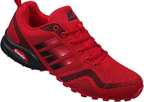Sandic Herren Sportschuhe Sneaker Turnschuhe Schuhe Gr.41-46 Art-Nr.2941 Rot