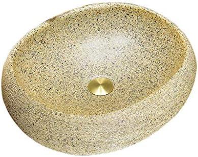 BoPin バスルームの洗面台、浴室シンクラウンドセラミックカウンタ(タップなし)バニティ技術流域単一流域、50X40X15cm ベッセルシンクシンク (Size : 50X40X15cm)