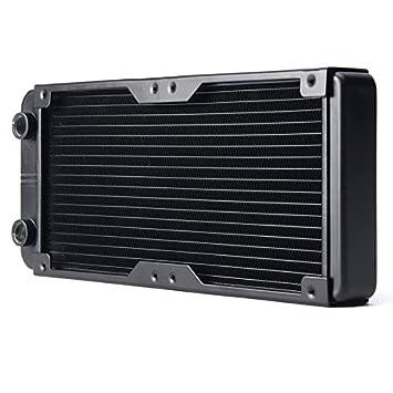 wishfive 18 tubo ordenador Radiador Enfriador de refrigeración de agua para CPU disipador de aluminio