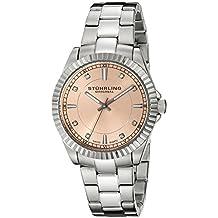 Stuhrling Original Women's 408L.12114 Aquadiver Regatta Lady Marine Swiss Quartz Rose Tone Dial Stainless Steel Bracelet Watch